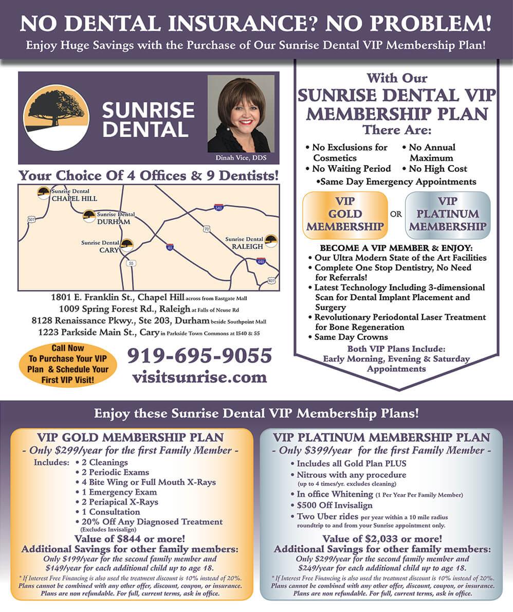 VIP Membership __Sunrise Dental   Chapel Hill   Durham   Raleigh   Cary, NC